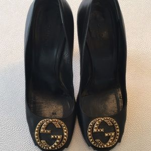 Gucci heels with GG logo black heels . Size 7 1/2